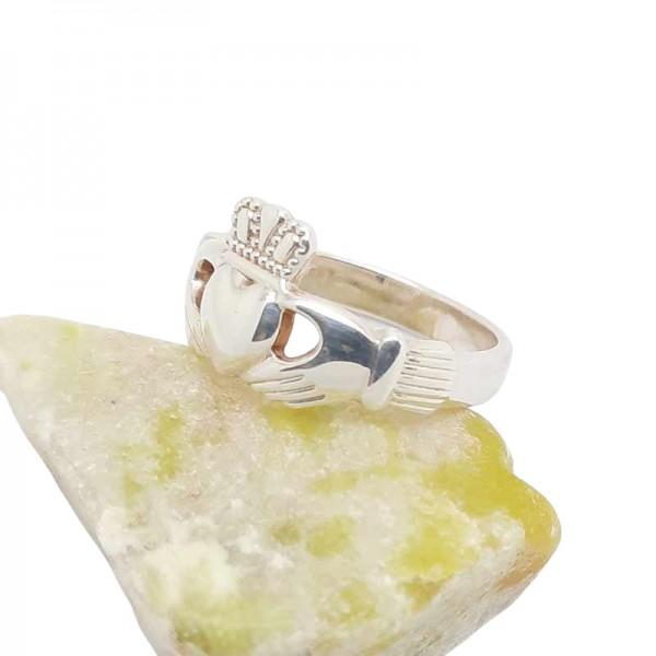 Irish Silver Claddagh Ring - Heavy