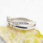 Irish Silver Claddagh Ring - Crossover with CZ