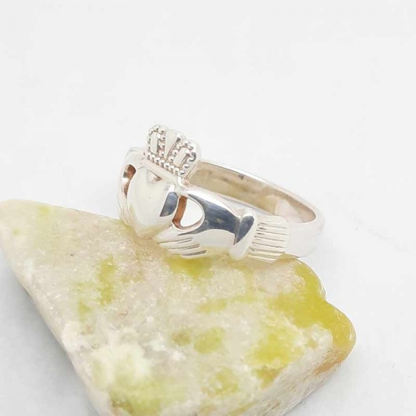 Irish Silver Claddagh Ring - Heavy