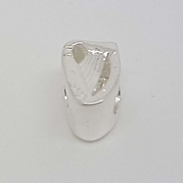Sterling Silver Irish Harp Charm for Pandora style Bracelet