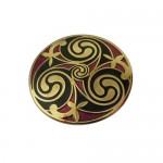 Celtic Spiral Brooch - Black and Gold
