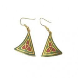 Celtic Earrings - Trinity Knot Enamelled