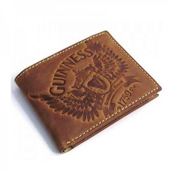 Guinness Leather Wallet - Brown - Wings Range