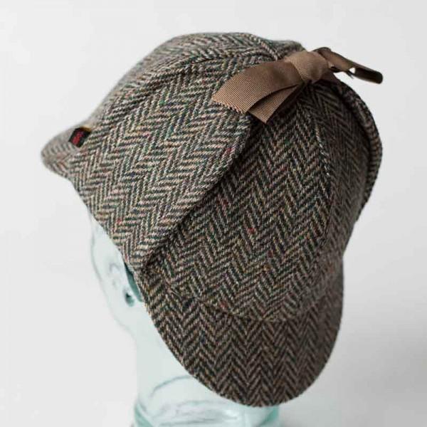 Deerstalker Sherlock Holmes Hat - Green Donegal Tweed Hats | Caps | Clothing