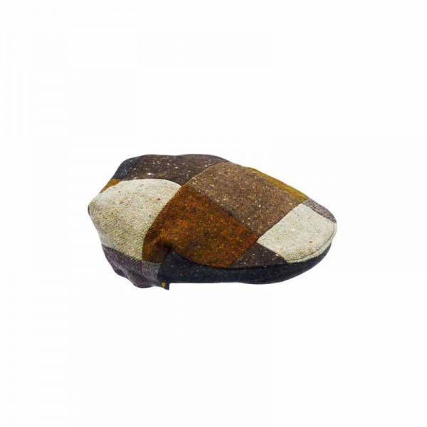 Donegal Tweed Childrens Patch Cap - Random Tones