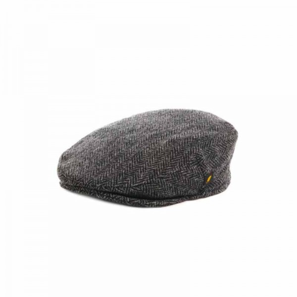 Donegal Tweed Childrens Cap - Charcoal Grey