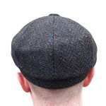 Donegal Tweed Newsboy Cap - Peat - Scholar
