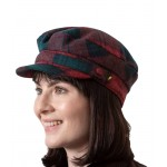 Tartan Plaid Skipper Cap - Lindsay Pattern Brushed Wool