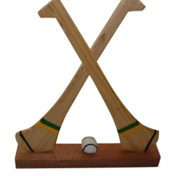 Miniature Hurleys - Kerry - Green and Gold