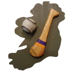 Hurling Fridge Magnet - Clare - Saffron and Blue