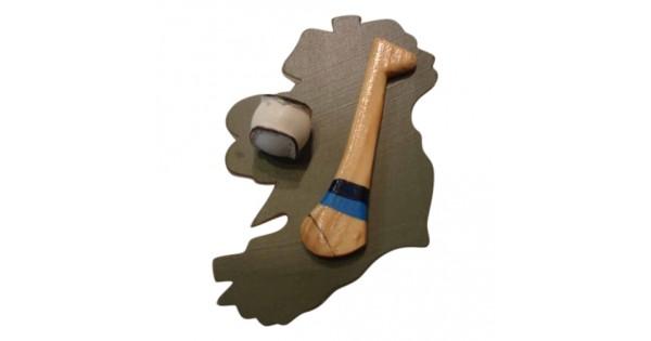 Hurling Fridge Magnet Dublin Light And Dark Blue