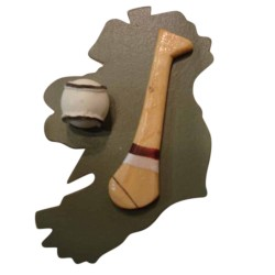 Hurling Fridge Magnet - Galway - Maroon and White