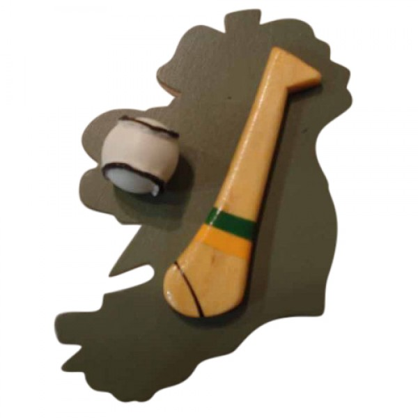 Hurling Fridge Magnet - Kerry - Green and Gold