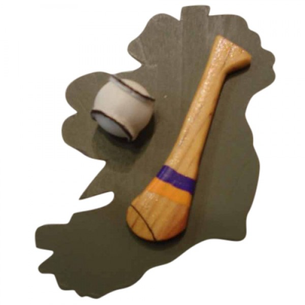 Hurling Fridge Magnet - Tipperary - Blue and Gold