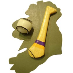 Hurling Fridge Magnet - Wexford - Purple and Gold
