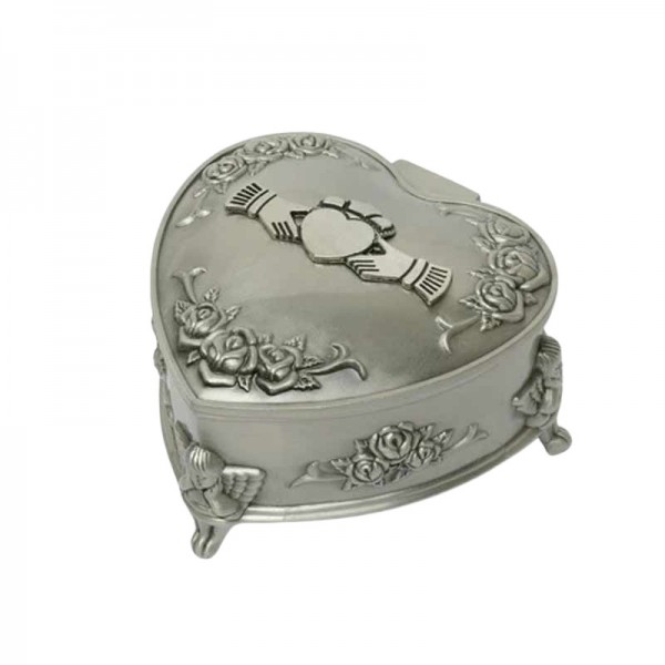 Heart Shaped Jewellery Box - Claddagh