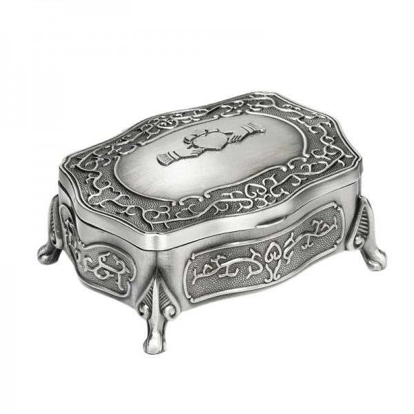Irish Pewter Jewellery Box - Claddagh - Large