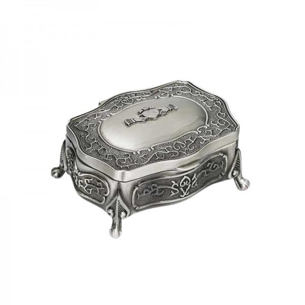 Irish Pewter Jewellery Box - Claddagh - Small