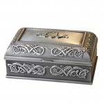 Pewter Jewellery Box - Claddagh - Large