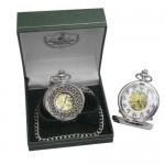 Mechanical Pocket Watch - Celtic Knot Design - Mullingar Pewter