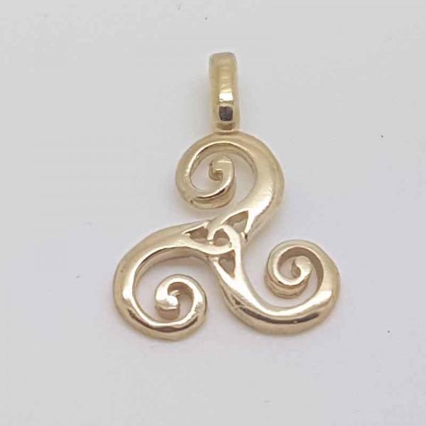Irish Gold Triskelle Pendant - 10 Karat Gold Occasions