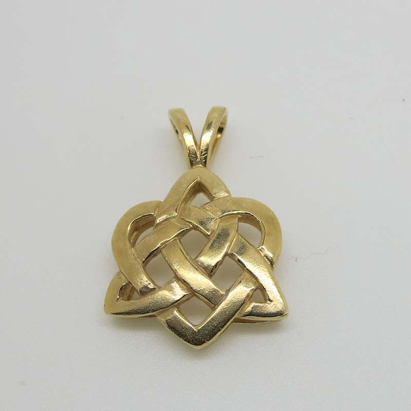Gold celtic love knot charm 10k reids jewelry new irish gold celtic love knot pendant 10 karat gold occasions aloadofball Image collections