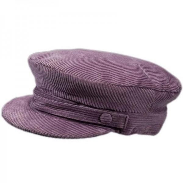 Corduroy Skipper Cap - Grey - Hatman of Ireland