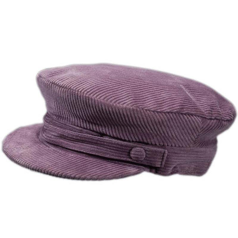 023d7bbe7eb Corduroy Skipper Cap - Grey - Hatman of Ireland Hats