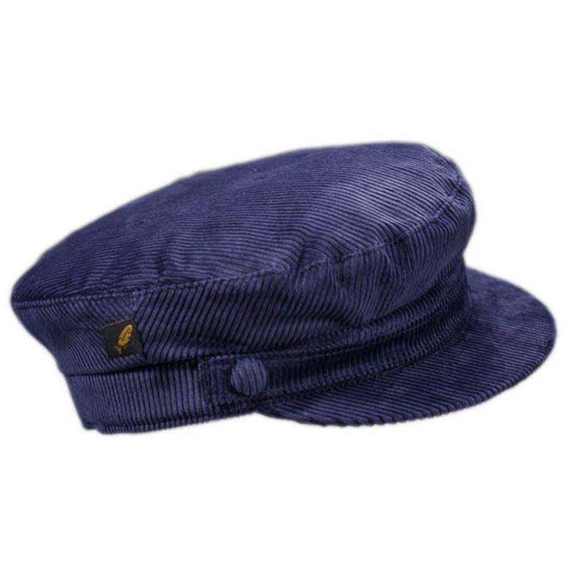 2bd29970965 Corduroy Skipper Cap - Navy Blue - Hatman of Ireland Hats