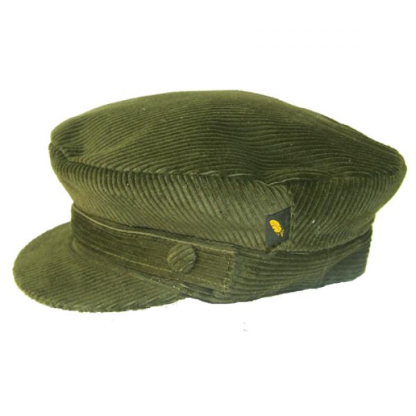 Corduroy Skipper Cap - Olive Green - Hatman of Ireland