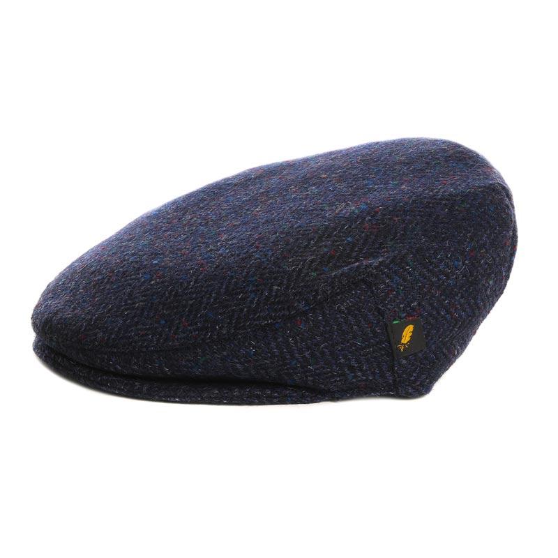 Donegal Tweed Flat Cap Navy Blue