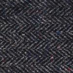Donegal Tweed Flat Cap - Charcoal Herringbone