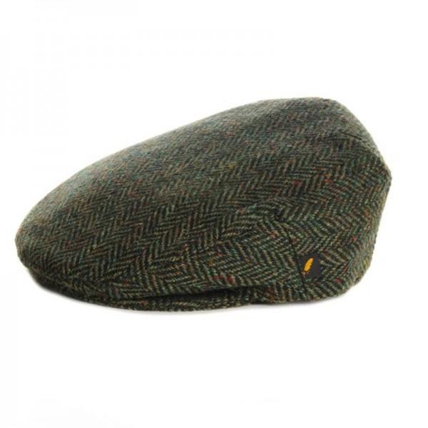 Donegal Tweed Flat Cap - Dark Green Herringbone Hats | Caps | Clothing