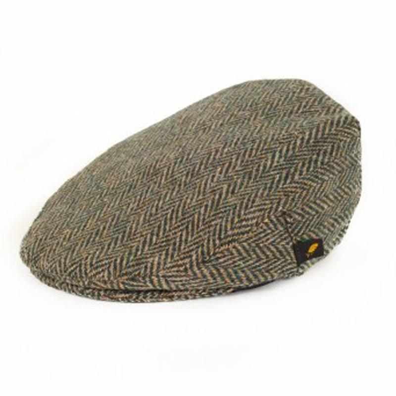 2ed813a500b Donegal Tweed Flat Cap - Pale Green Herringbone Hats