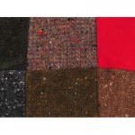 Donegal Tweed Flat Cap - Patchwork Red Patch