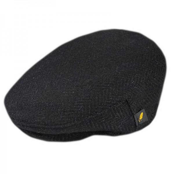 Donegal Tweed Flat Cap - Plain Black
