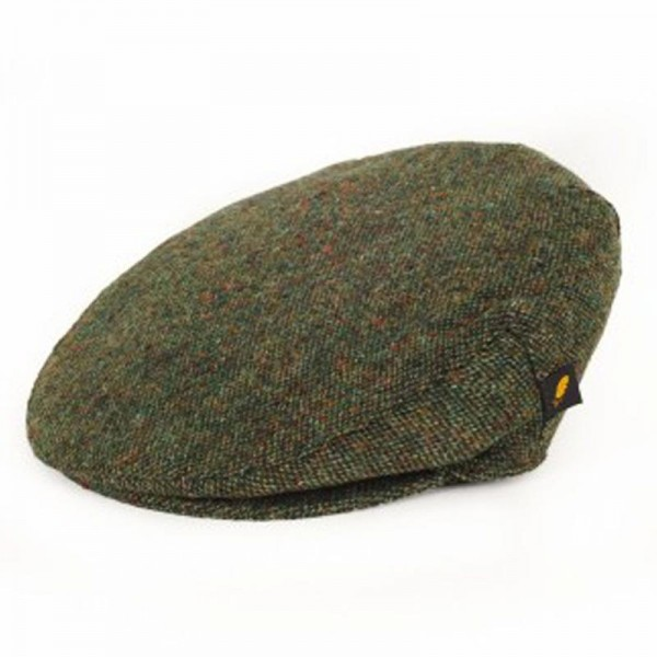 Donegal Tweed Flat Cap - Salt and Pepper Green Hats | Caps | Clothing