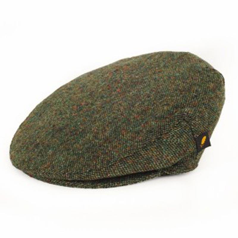 7d13b694e88 Donegal Tweed Flat Cap - Salt and Pepper Green Hats