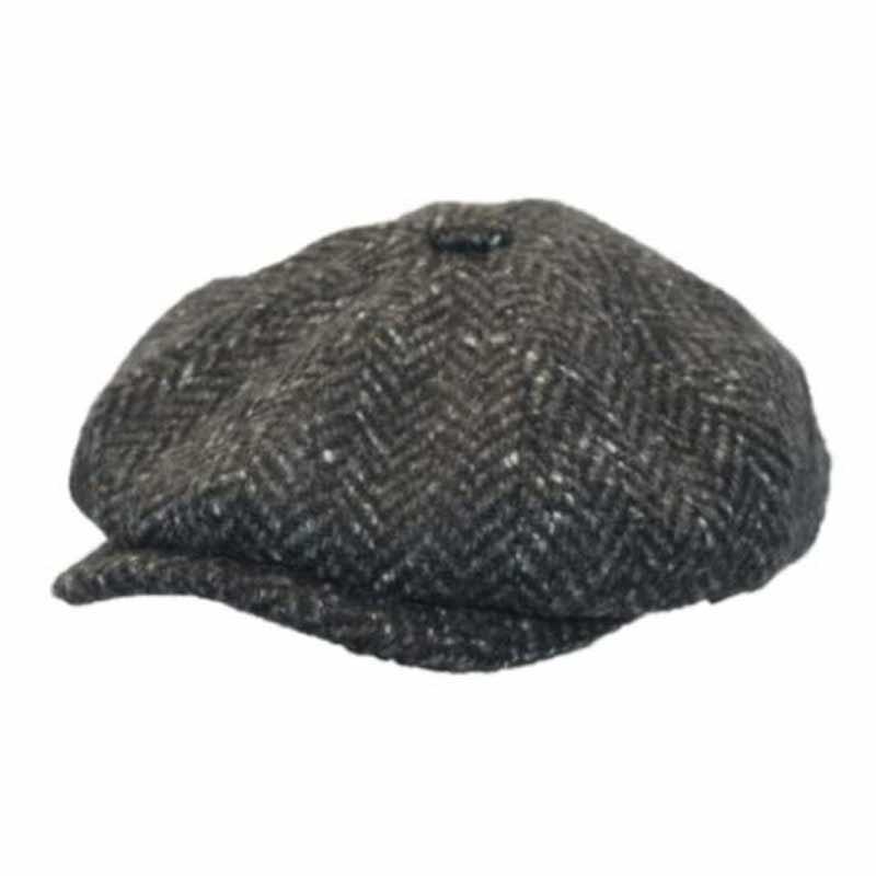 Donegal Tweed Newsboy Cap - Dark Charcoal Scholar Hats  95acecd99c7