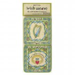 Irish Coaster Set - Shamrock, Harp, Claddagh, Cross