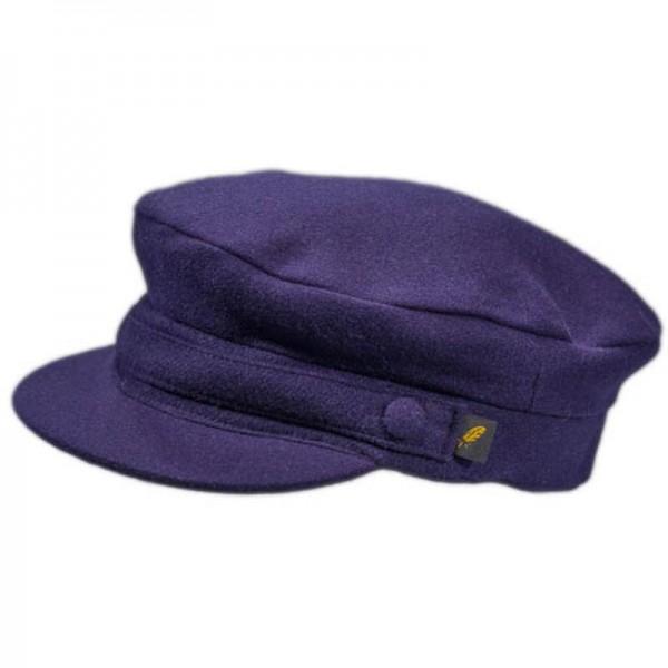 Melton Skipper Cap - Navy Blue Milled Wool