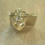 Sterling Silver Celtic Cross Charm for Pandora style Bracelet