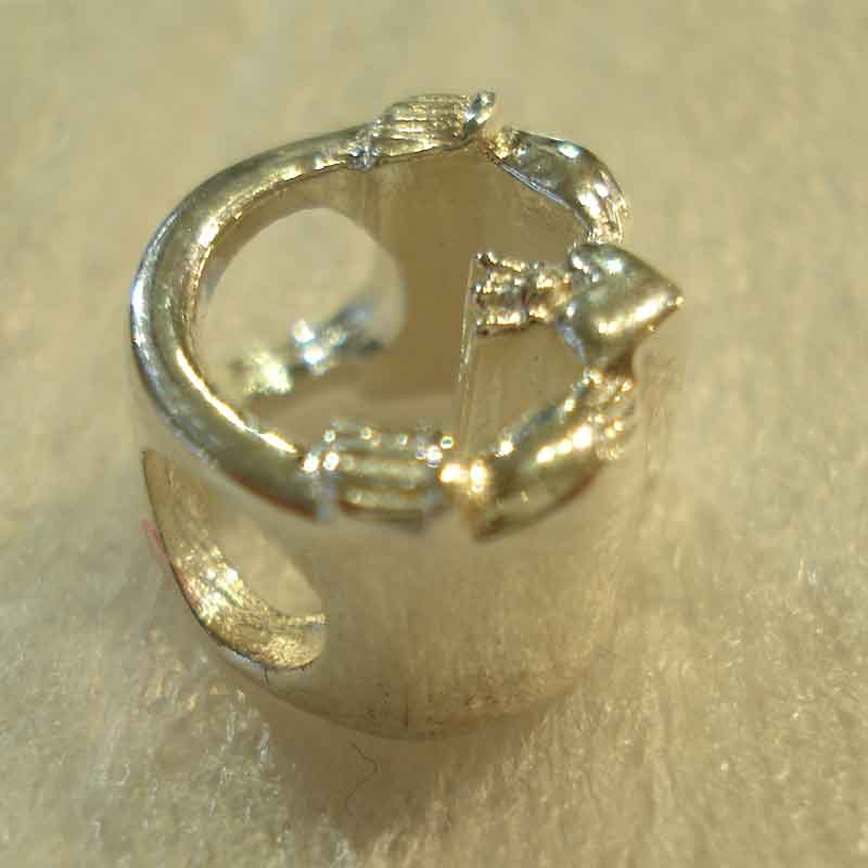 Sterling Silver Claddagh Charm For Pandora Style Bracelet