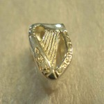 Sterling Silver Irish Harp Charm for Pandora style Bracelet Occasions