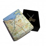 Silver Pendant - Map of Galway - Sterling Silver