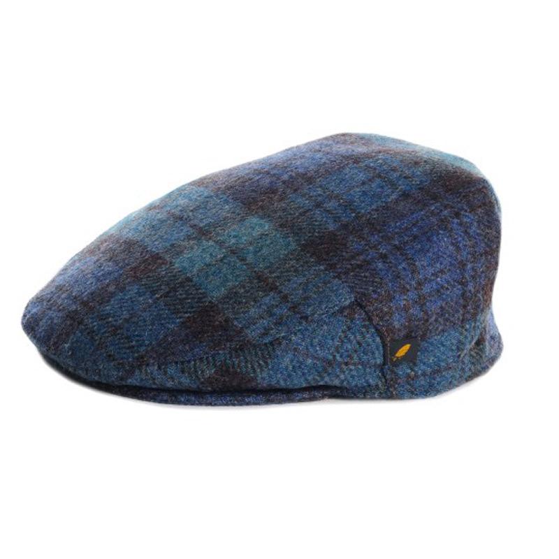 019aac1fb Tartan Plaid Flat Cap - Antique Black Watch Brushed Wool