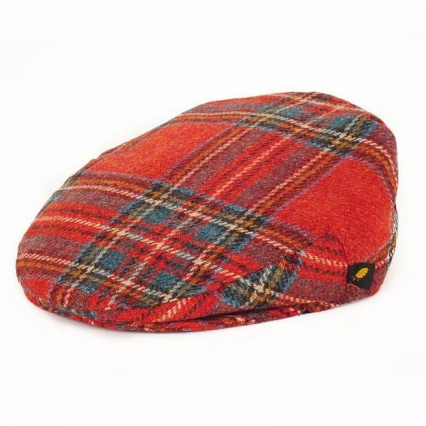 Tartan Plaid Flat Cap - Antique Royal Stewart Brushed Wool