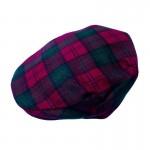 Tartan Plaid Flat Cap - Lindsay Brushed Wool