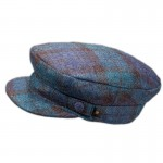 Tartan Plaid Skipper Cap - Antique Black Watch Brushed Wool