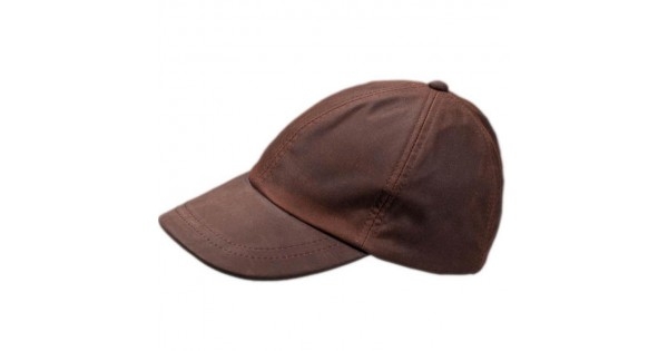 mens brown leather baseball cap waxed chris wearing caps dark